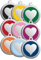 Large Dog ID Tag - Heart