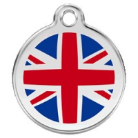 Large Dog ID Tag - Union Jack