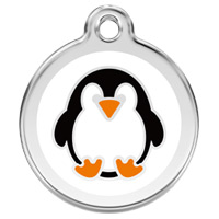 Large Dog ID Tag - Penguin