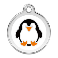 Medium Dog ID Tag - Penguin