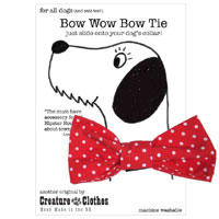 Dog Bow Tie - Red Polka Dot