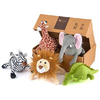 Safari Plush Dog Toys
