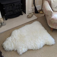 Sheepskin Throw Topper