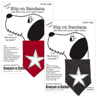 Silver Star Dog Bandanas