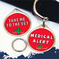 Medical Alert Dog Tag Charm