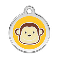 Small Dog ID Tag - Monkey