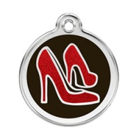 Glitter Red Shoes Dog ID Tag - Small