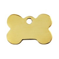 Plain Brass Dog Tag - Small Bone