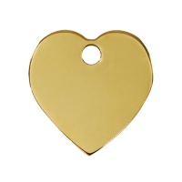 Plain Brass Dog Tag - Small Heart