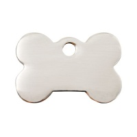 Plain Stainless Steel Dog Tag - Small Bone