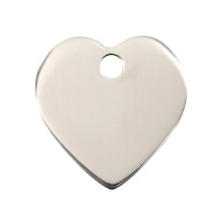 Plain Stainless Steel Dog Tag - Small Heart