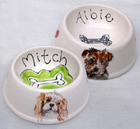 Portrait Personalised Spaniel Bowls