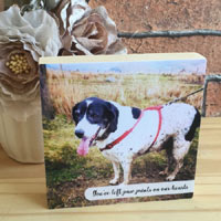 Square Memorial Dog Photo Block