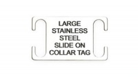 Large Slide-on Dog Tag - Stainless Steel