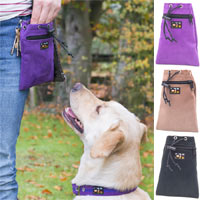 Suede Dog Walkies Bag