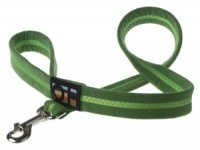 Faux Suede Apple Green Dog Lead