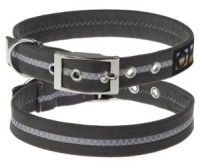 Faux Suede Graphite Grey Dog Collar