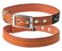 Faux Suede Clementine Orange Dog Collar