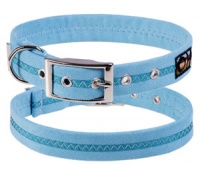 Faux Suede Ocean Breeze Dog Collar