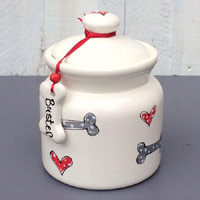 Traditional Personalised Dog Treat Jar