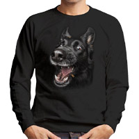 Unisex Dog Lover Sweatshirt - Black Shepherd