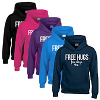 Unisex Slogan Hoodie - Free Hugs For Dogs