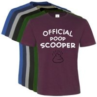Unisex Slogan T-Shirt - Official Poop Scooper