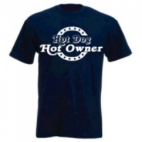 Unisex Slogan T-Shirt - Hot Dog, Hot Owner