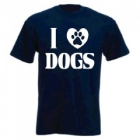 Unisex Slogan T-Shirt - I Love Dogs