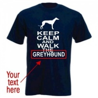 Unisex Custom T-Shirt - Keep Calm & Walk The [Dog Breed]