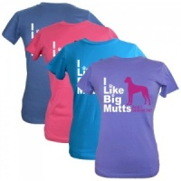 Women's Slogan T-Shirt - I Like Big Mutts