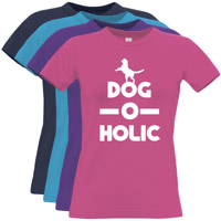 Women's Slogan T-Shirt - Dog-O-Holic