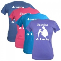 Women's Personalised T-Shirt - Dog & Owner
