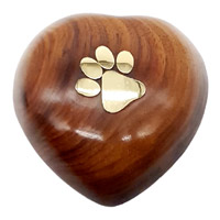 Wooden Heart Keepsake Pet Urn