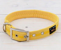 Faux Suede Yellow Dog Collar