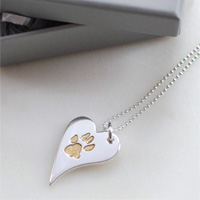 Your Dog's Paw Print Charm Necklace
