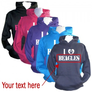 Unisex Customised Hoodie - I Love [Dog Breed]