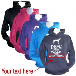 Unisex Custom Hoodie - Keep Calm & Walk The [Dog Breed]