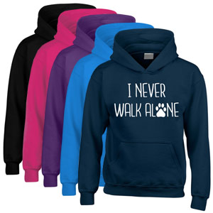 Unisex Slogan Hoodie - I Never Walk Alone