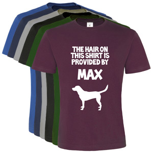 Unisex Personalised T-Shirt - Dog Hair Provided By