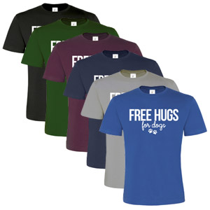 Unisex Slogan T-Shirt - Free Hugs For Dogs