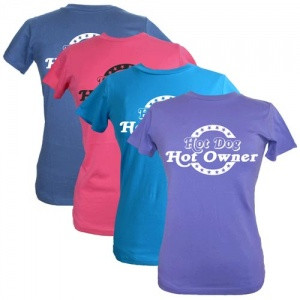 Women's Slogan T-Shirt - Hot Dog, Hot Owner