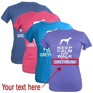 Women's Custom T-Shirt - Keep Calm & Walk The [Dog Breed]