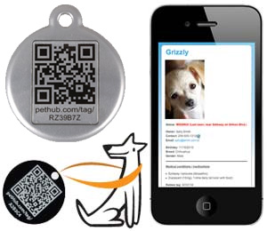 Qr Code Dog Tag Qr Pet Tag By Red Dingo Red Heart Code Tag