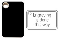 Rectangular engraved plastic dog tag