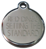 Red Dingo dog tag engraving