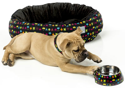 Retro Space Invaders Raiders Dog Bed