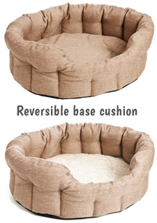 dog bed with reversible cushion