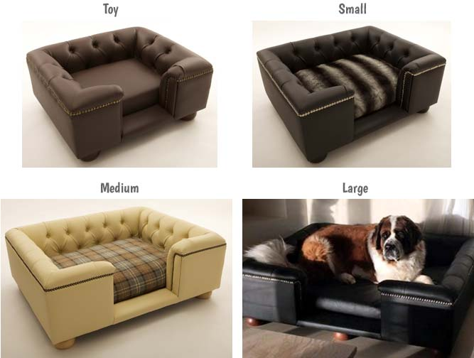 Sandringham luxury dog bed sizes
