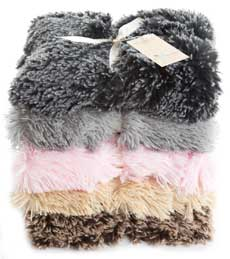 Shaggy double sided faux fur luxury dog blanket